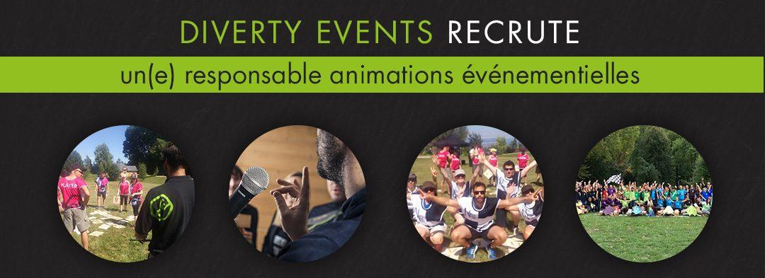 Offre d'emploi : Responsable animations événementielles