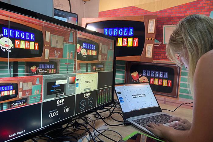 Jeu en visio pour entreprises : Burger Party