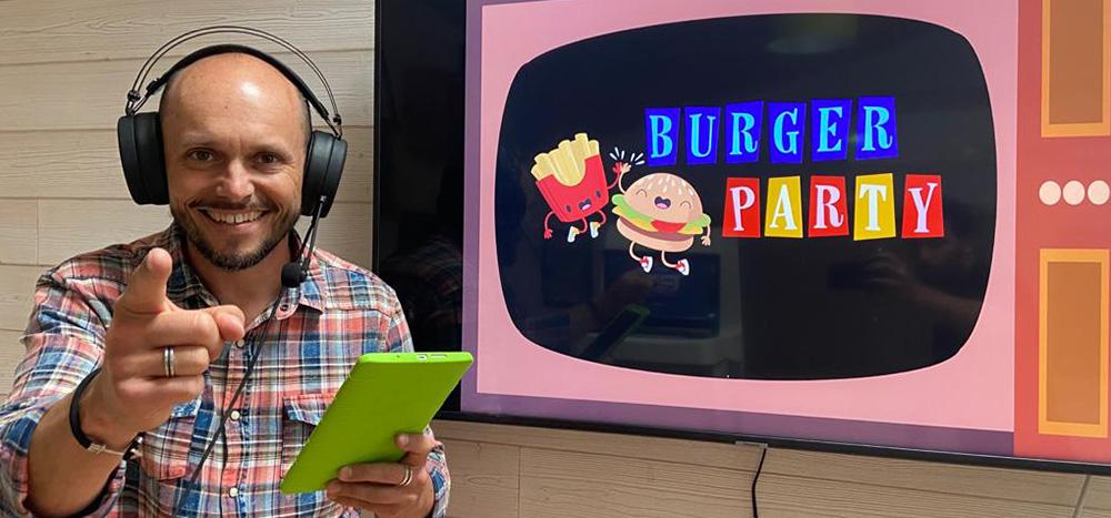 Jeu en visio : Burger Party