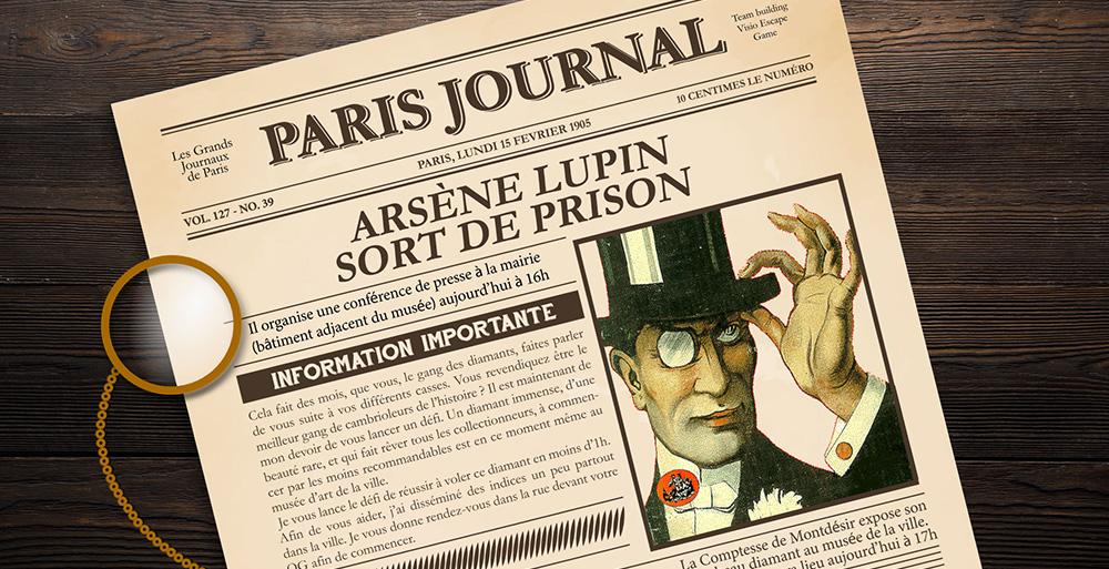 Visio Escape Game Lupin