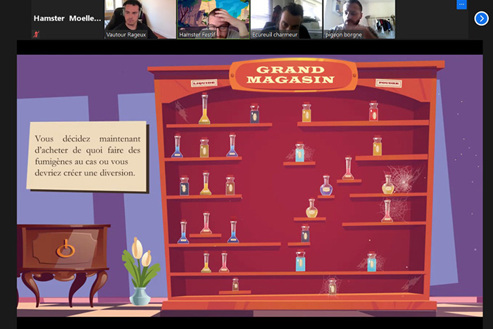 Team building en visio - Escape Game Lupin